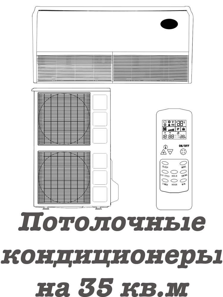 Напольно-потолочные кондиционеры на 35 кв.м