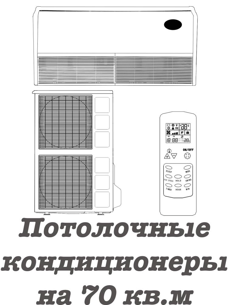 Напольно-потолочные кондиционеры на 70 кв.м