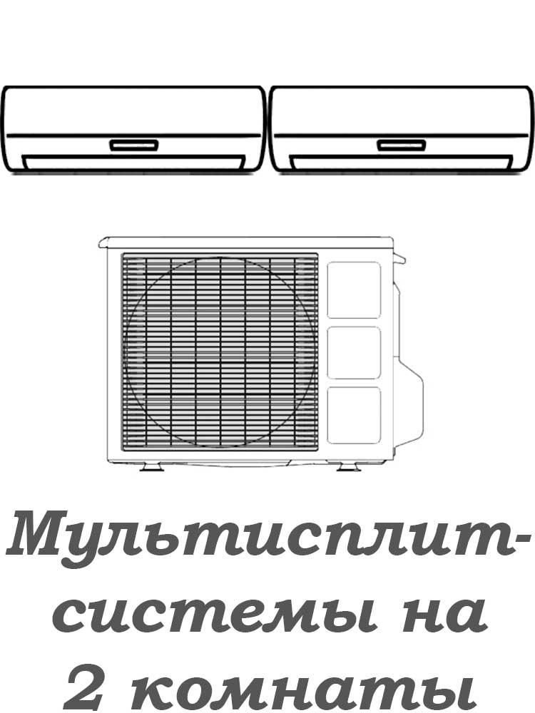 Мультисплит-системы на 2 комнаты