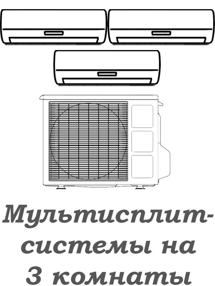 Мультисплит-системы на 3 комнаты