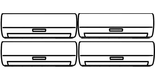 Мульти сплит-системы на 4 комнаты