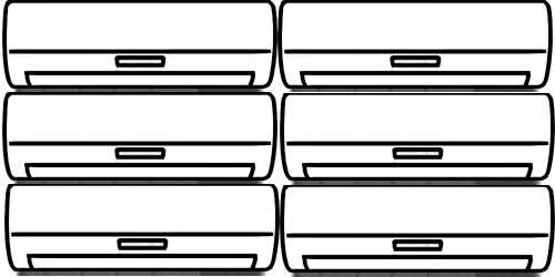 Мульти сплит-системы на 6 комнат